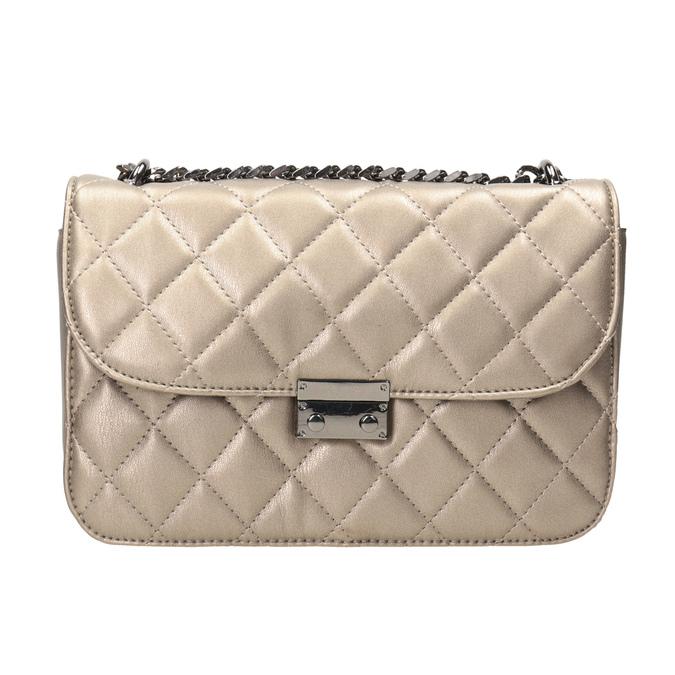 Prošívaná Crossbody kabelka bata, hnědá, 961-4141 - 26