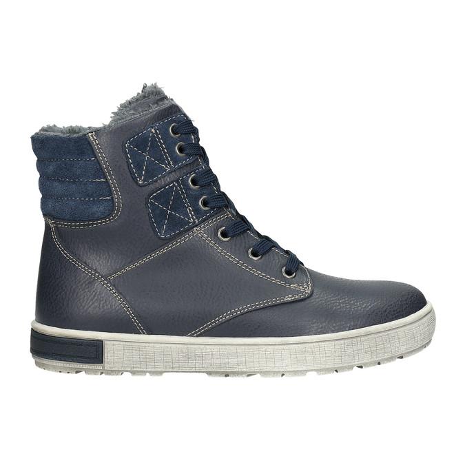 Kožená dětská kotníčková obuv mini-b, modrá, 494-9655 - 15