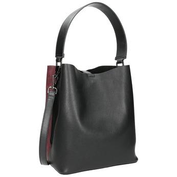 Dámská dvoubarevná kabelka bata, černá, 961-6173 - 13