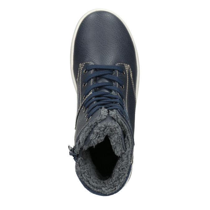 Kožená dětská kotníčková obuv mini-b, modrá, 494-9655 - 26