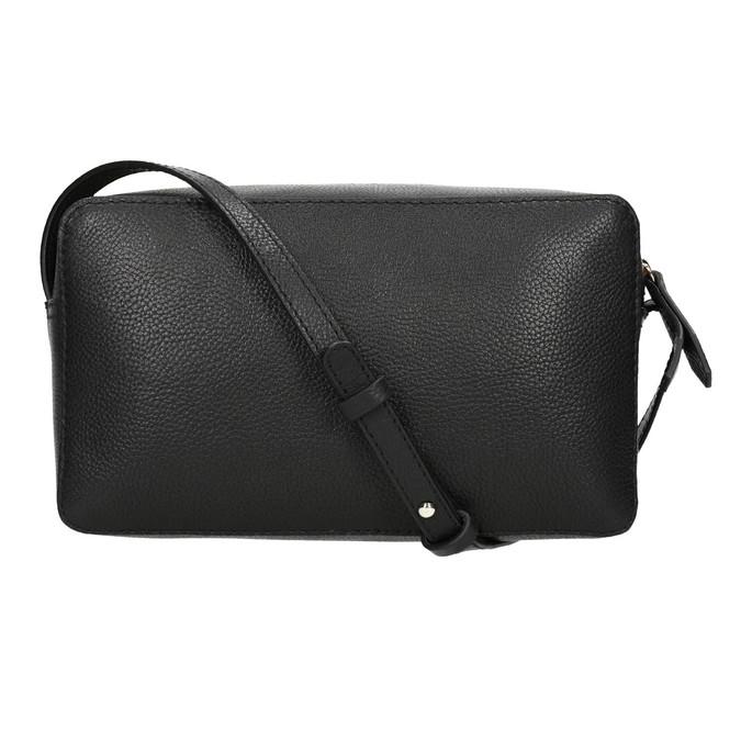 Kožená černá Crossbody bata, černá, 964-6282 - 26
