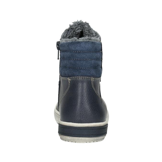 Kožená dětská kotníčková obuv mini-b, modrá, 494-9655 - 17