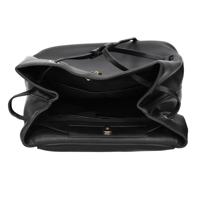 Dámský městský batoh se zlatými detaily bata, černá, 961-6166 - 15