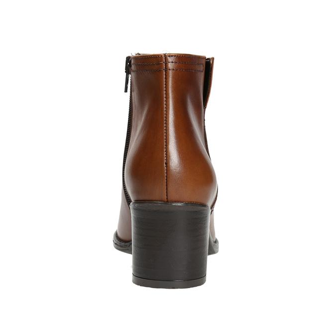 Kotníčková obuv na stabilním podpatku bata, hnědá, 694-4642 - 17