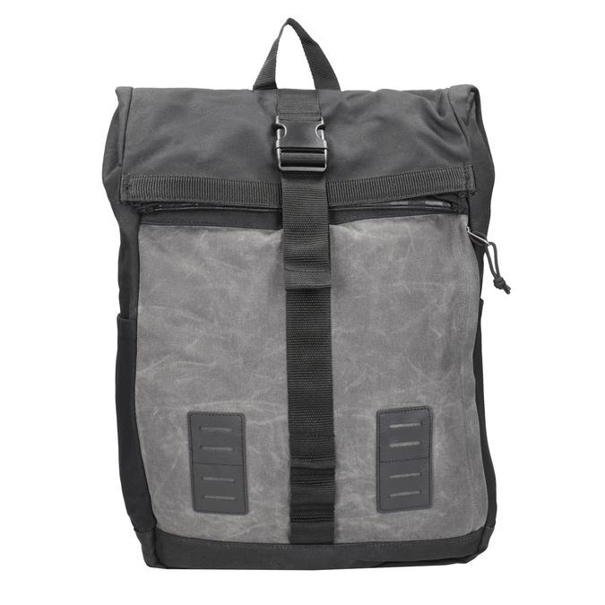 Šedý unisex batoh s přezkou vans, šedá, 969-2095 - 26