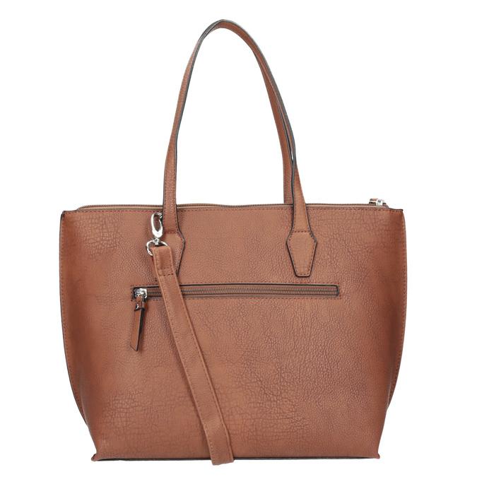 Hnědá dámská kabelka s prošitím gabor-bags, hnědá, 961-3059 - 16
