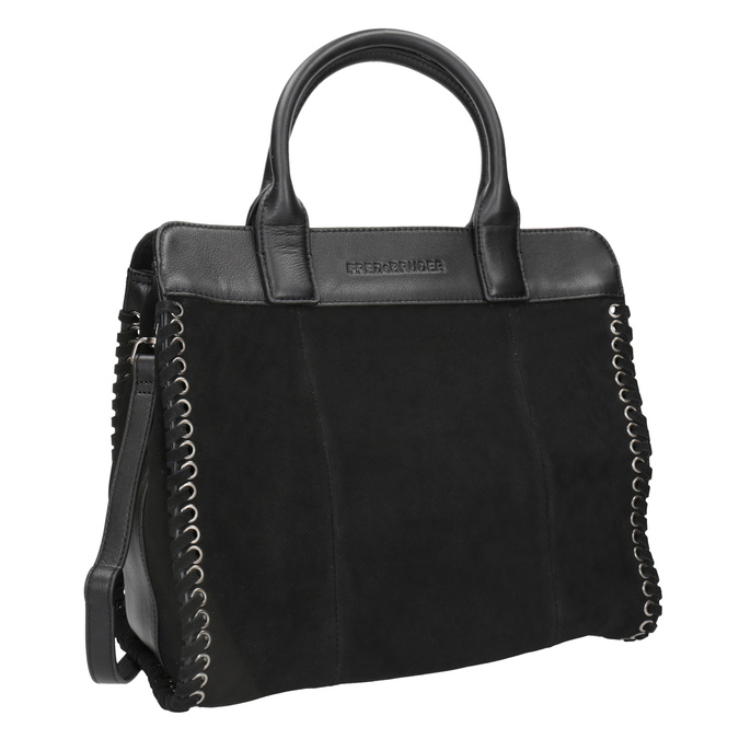 Kožená dámská kabelka fredsbruder, černá, 963-6002 - 13