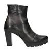 Kožená kotníčková obuv na podpatku bata, šedá, 796-2650 - 26