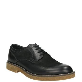 Pánské kožené Derby polobotky bata, černá, 826-6620 - 13