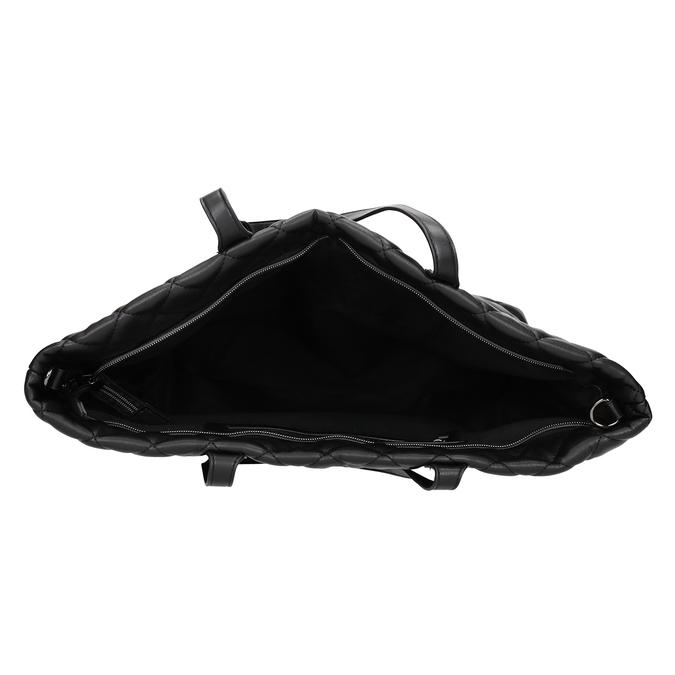 Prošívaná kabelka s řetízkem bata, černá, 961-6139 - 15