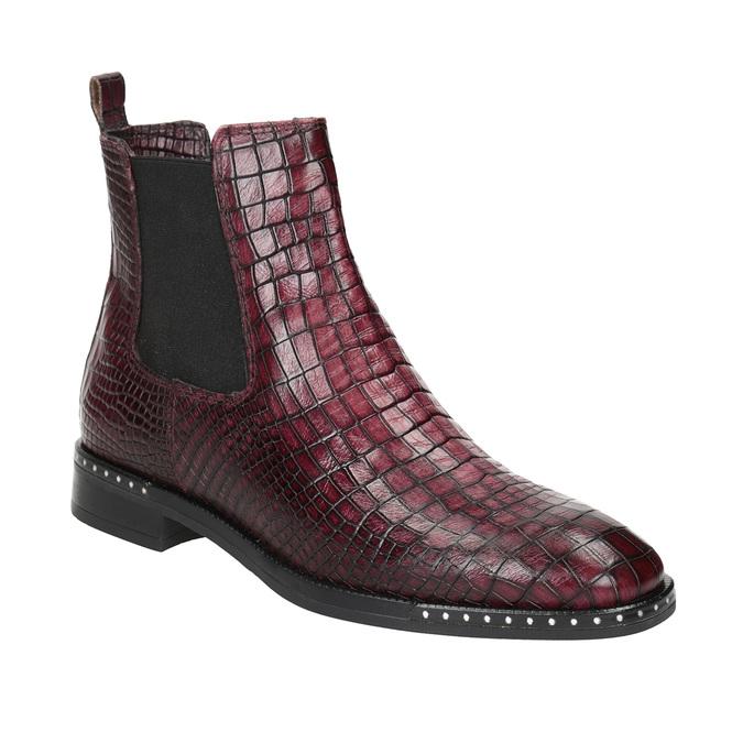 Kožená dámská Chelsea obuv bata, červená, 596-5678 - 13