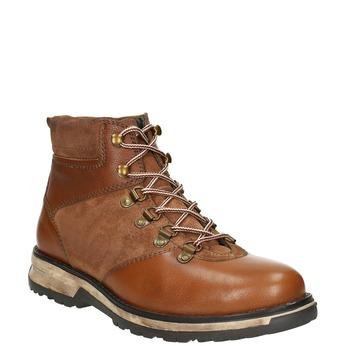 Kožená pánská zimní obuv bata, hnědá, 896-4668 - 13