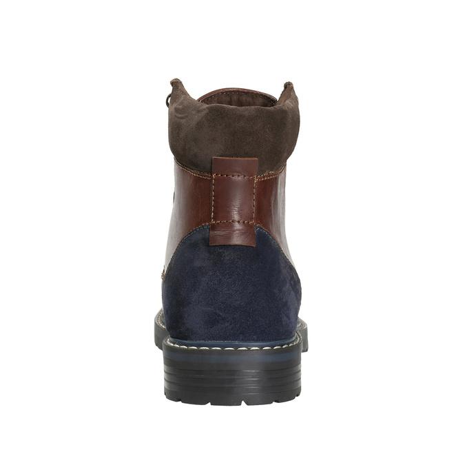 Kotníčková pánská obuv bata, hnědá, 896-4689 - 16
