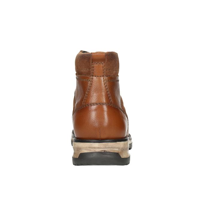 Kožená pánská zimní obuv bata, hnědá, 896-4668 - 17
