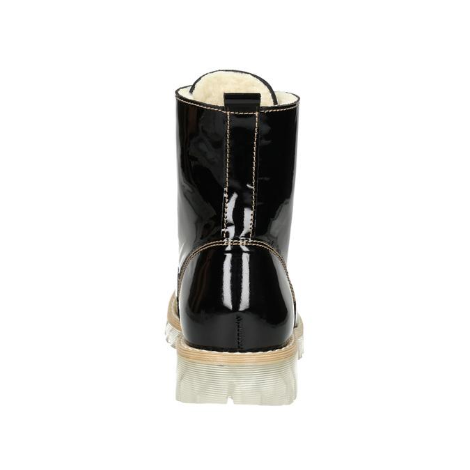 Lakovaná kotníčková obuv s masivní podešví weinbrenner, černá, 598-6604 - 16