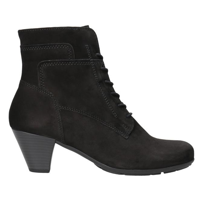 Kožená kotníčková obuv šněrovací gabor, černá, 726-6120 - 26