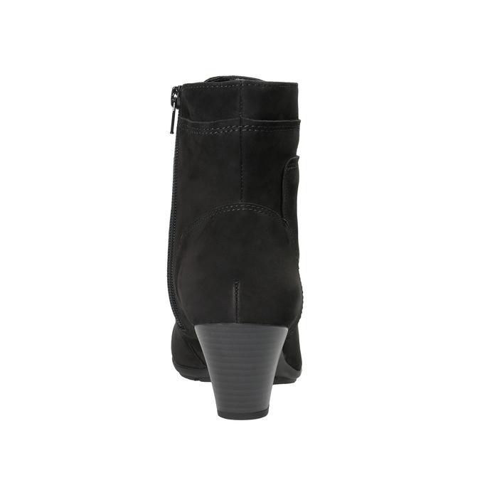 Kožená kotníčková obuv šněrovací gabor, černá, 726-6120 - 16