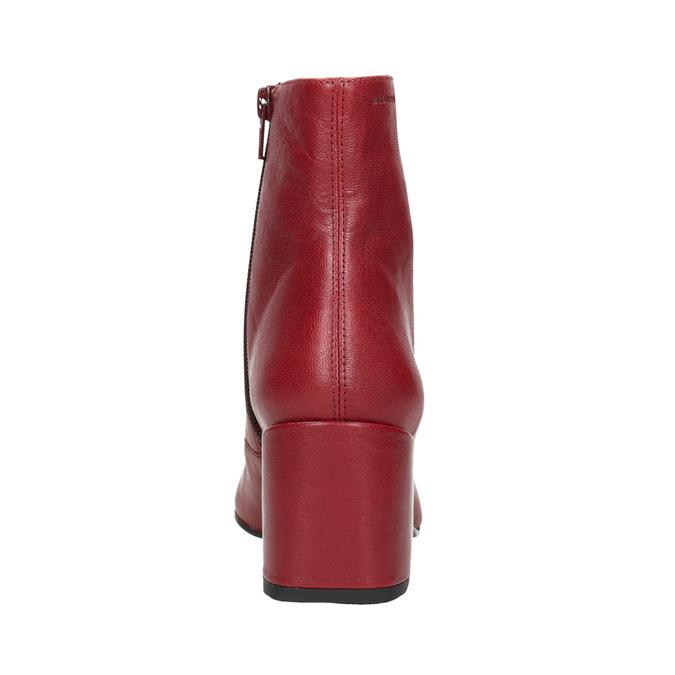 Červené kožené kozačky vagabond, červená, 716-5038 - 16