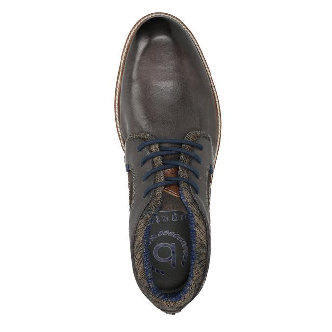 Pánská kotníčková obuv s prošitím bugatti, šedá, 826-2011 - 15