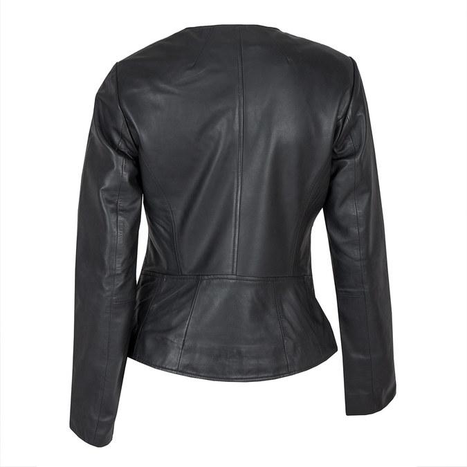 Dámská kožená bunda bata, černá, 974-6177 - 26