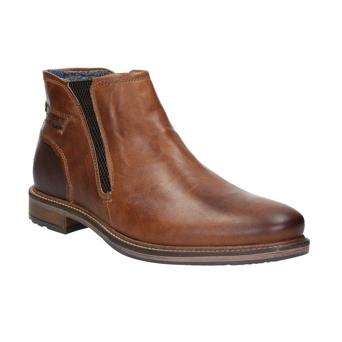 Pánská kožená kotníčková obuv bugatti, hnědá, 816-4044 - 13