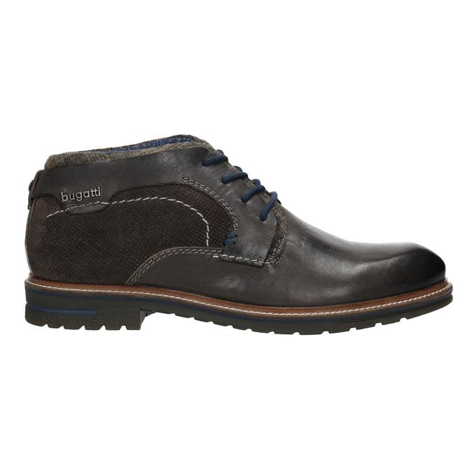 Pánská kotníčková obuv s prošitím bugatti, šedá, 826-2011 - 26