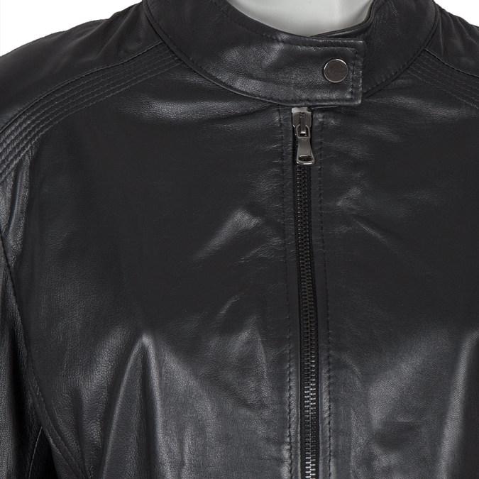 Černá kožená bunda bata, černá, 974-6175 - 16