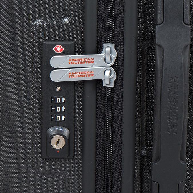 Cestovní skořepinový kufr  american-tourister, černá, 960-6606 - 15