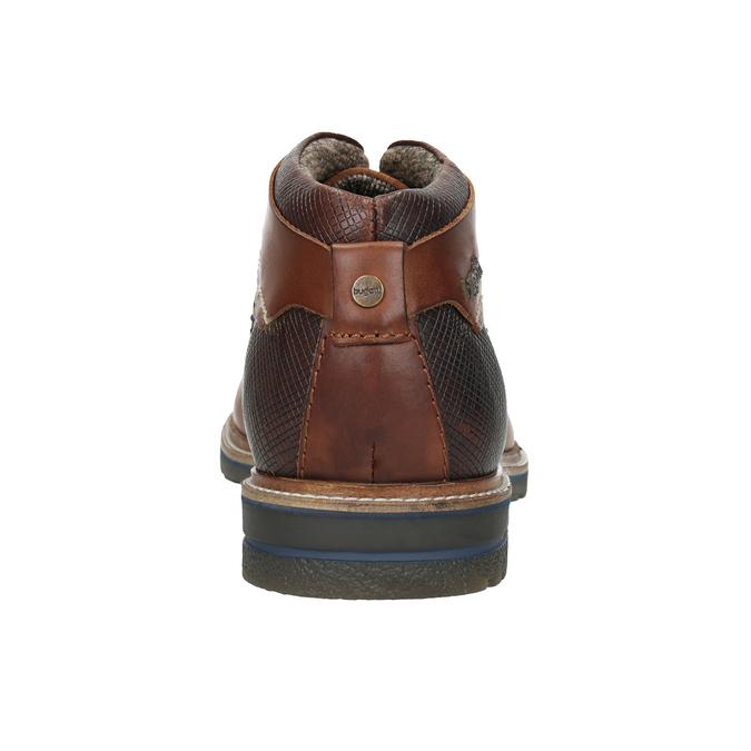 Kožená kotníčková obuv bugatti, černá, 824-6010 - 16
