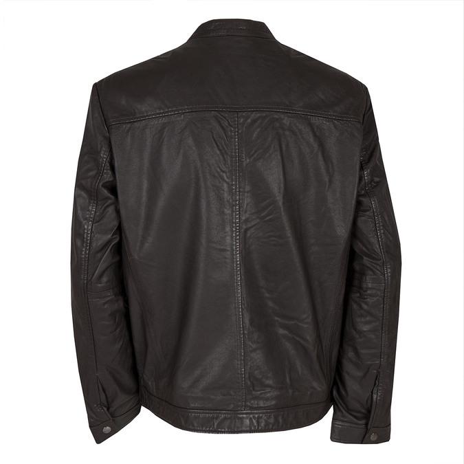 Pánská kožená bunda bata, hnědá, 974-4171 - 26