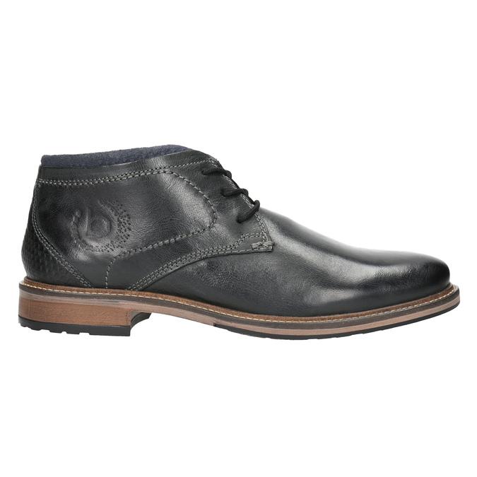 Pánská kožená kotníčková obuv bugatti, černá, 824-6015 - 26