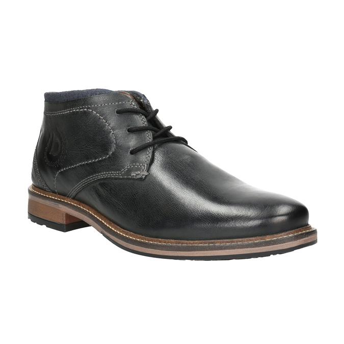 Pánská kožená kotníčková obuv bugatti, černá, 824-6015 - 13
