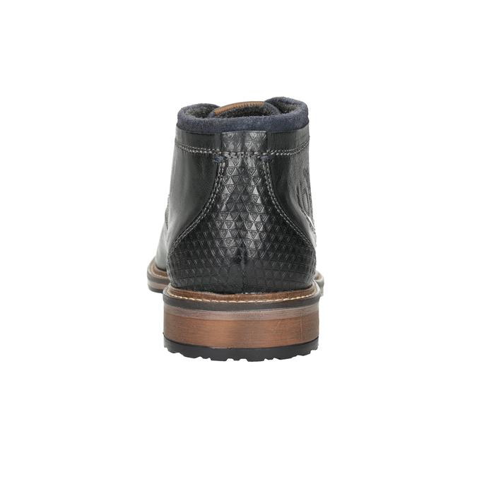 Pánská kožená kotníčková obuv bugatti, černá, 824-6015 - 16
