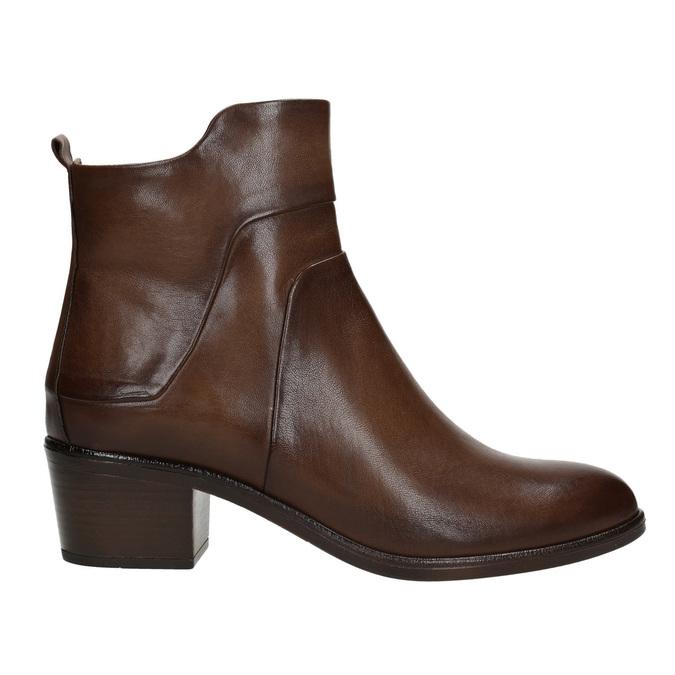 Kotníčkové kozačky na stabilním podpatku bata, hnědá, 696-4654 - 26