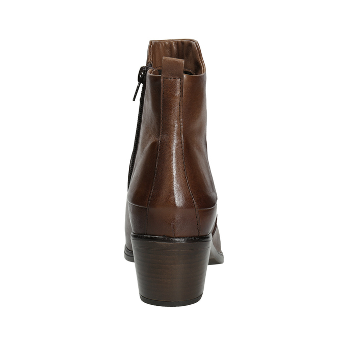 Kotníčkové kozačky na stabilním podpatku bata, hnědá, 696-4654 - 16