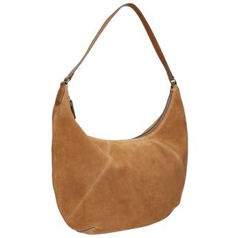 Hnědá kožená kabelka bata, hnědá, 964-4275 - 13