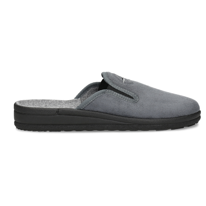 Pánská domácí obuv bata, šedá, 879-2610 - 19