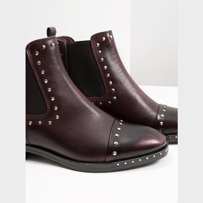 Kožená dámská Chelsea obuv bata, červená, 596-5679 - 14