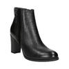 Kožené kotníčkové boty na podpatku bata, černá, 794-6642 - 13