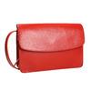 Červená kožená kabelka vagabond, červená, 964-5086 - 13