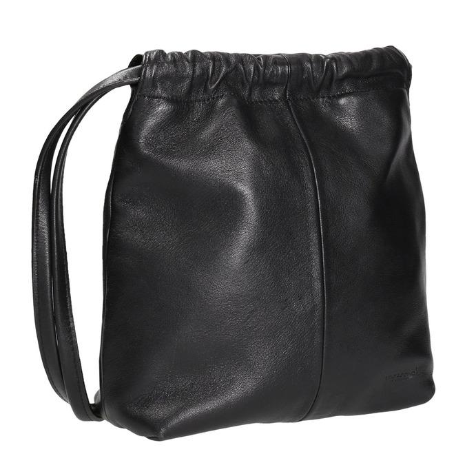 Kožená dámská Crossbody kabelka vagabond, černá, 964-6085 - 13