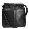 Kožená dámská Crossbody kabelka vagabond, černá, 964-6085 - 26