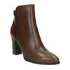 Kožená kotníčková obuv bata, hnědá, 794-4650 - 13