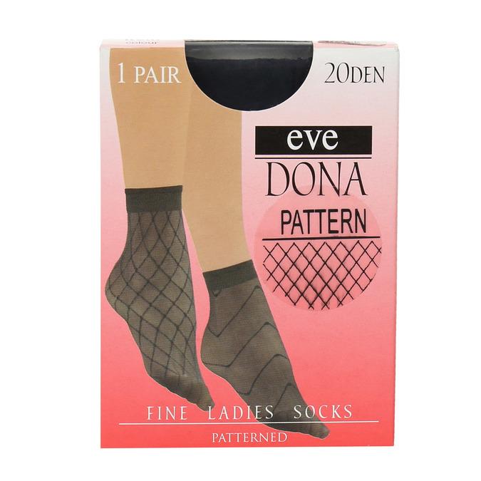 Dámské vzorované ponožky evona, černá, 919-6672 - 13