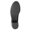 Kožené kozačky na stabilním podpatku bata, černá, 696-6647 - 17
