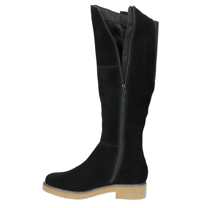 Kožené dámské kozačky bata, černá, 593-6606 - 26