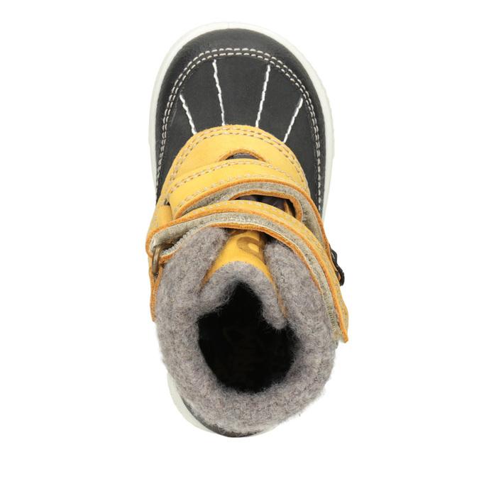 Dětská zimní obuv kožená primigi, žlutá, 196-8006 - 15