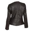 Dámská kožená bunda s asymetrickým zipem bata, hnědá, 974-4177 - 26