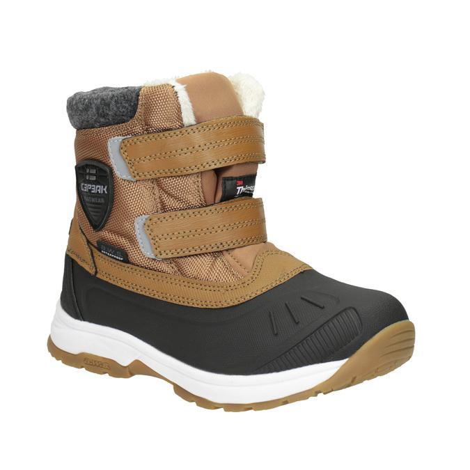 Dětská zimní obuv na suché zipy icepeak, hnědá, 399-3018 - 13