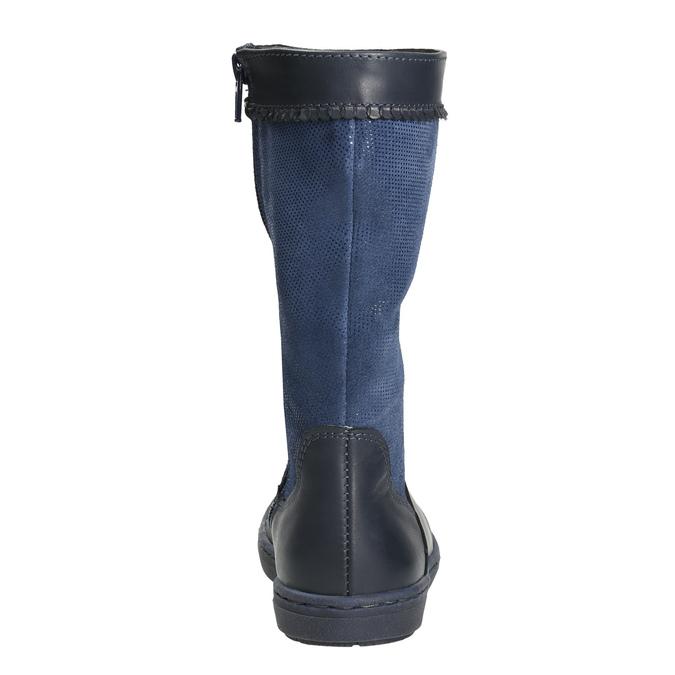 Modré dívčí kozačky bata, modrá, 394-9196 - 17